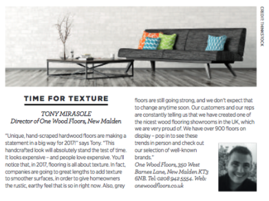 Article featured in Beautiful homes magazine